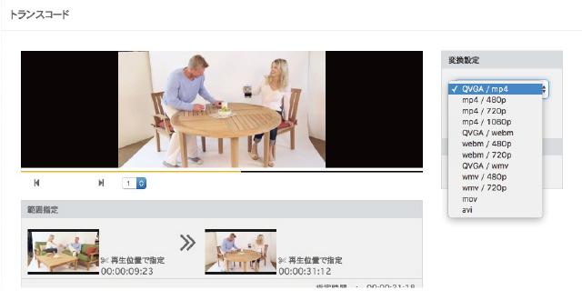 動画変換/トリミング